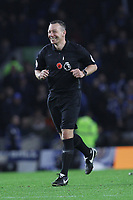 Referee Kevin Friend during Brighton & Hove Albion vs Norwich City, Premier League Football at the American Express Community Stadium on 2nd November 2019
