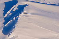Abstract pattern of wind blown snow<br /> Grande Pointe<br /> Manitoba<br /> Canada