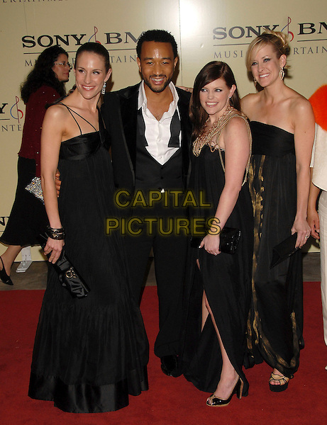 THE DIXIE CHICKS & JOHN LEGEND.attends The Sony / BMG Post Grammy Party held at The Beverly Hills Hotel in Beverly Hills, California, USA, February 11 2007..full length black dresses.CAP/DVS.©Debbie VanStory/Capital Pictures