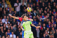 Roberto Fimino wins a header during the EPL - Premier League match between Crystal Palace and Liverpool at Selhurst Park, London, England on 29 October 2016. Photo by Steve McCarthy.