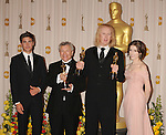 HOLLYWOOD, CA. - March 07: Actor Zac Efron, Sound Editor Ray Beckett, Paul N.J. Ottosson and actress Anna Kendrick (R) pose in the press room at the 82nd Annual Academy Awards held at the Kodak Theatre on March 7, 2010 in Hollywood, California.