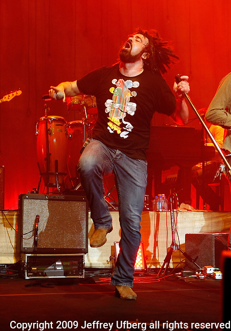 August 25, 2009 New York: Singer / Musician Adam Duritz, lead singer of Counting Crows performs at Hammerstein Ballroom on August 25, 2009 in New York City