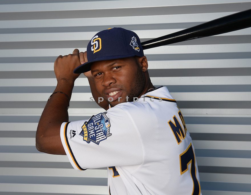 San Diego Padres Manny Margot (70) during photo day on February 26, 2016 in Peoria, AZ.
