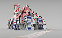 Detached house of cards