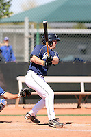 Griffin Benedict, San Diego Padres minor league spring training..Photo by:  Bill Mitchell/Four Seam Images.