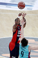 Caja Laboral Baskonia's Omar Cook (l) and FC Barcelona Regal's Marcelinho Huertas during Spanish Basketball King's Cup semifinal match.February 07,2013. (ALTERPHOTOS/Acero) /NortePhoto