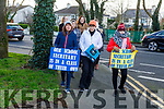 Mercy Mounthawk Admin staff on a one day strike at the school on Friday.