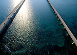 Aerial of Seven Mile Bridge, the Keys Florida
