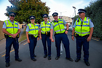 Police officers on day one of the 2019 HSBC World Sevens Series Hamilton  at FMG Stadium in Hamilton, New Zealand on Saturday, 26 January 2019. Photo: Dave Lintott / lintottphoto.co.nz