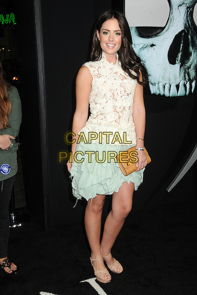 "Beau Dunn.""Final Destination 5"" Los Angeles Special Screening held at Grauman's Chinese Theatre, Hollywood, California, USA..August 10th, 2011.full length white lace top sleeveless skirt green.CAP/ADM/BP.©Byron Purvis/AdMedia/Capital Pictures."