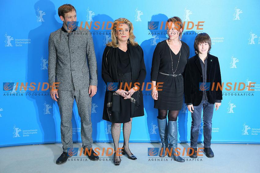 Paul Hamy, Catherine Deneuve, Emmanuelle Bercot, Nemo Schiffman. Berlin 15/02/2013. 63th Berlinale 'On My Way' photocall. foto Mark Cape/Insidefoto.