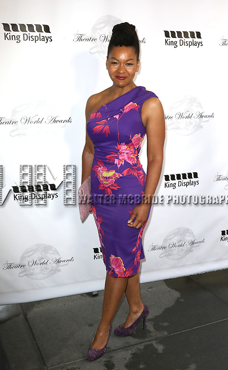 Crystal A. Dickinson attending the 69th Annual Theatre World Awards at the Music Box Theatre in New York City on June 03, 2013.