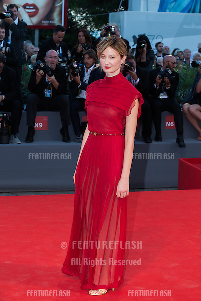 Alba Rohrwacher  at the premiere of Blood Of My Blood at the 2015 Venice Film Festival.<br /> September 8, 2015  Venice, Italy<br /> Picture: Kristina Afanasyeva / Featureflash