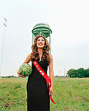 USA, Texas, the Thump Queen of the Watermelon Festival, Luling