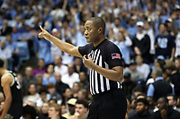 CHAPEL HILL, NC - MARCH 03: Official Keith Kimble during a game between Wake Forest and North Carolina at Dean E. Smith Center on March 03, 2020 in Chapel Hill, North Carolina.