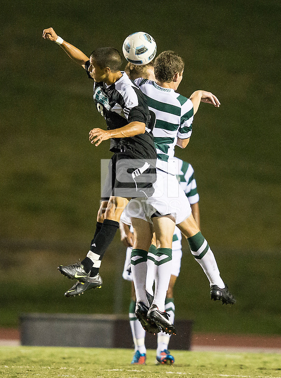 Number 8 ranked Charlotte beats number 16 ranked Coastal Carolina 1-0 on a goal by Thomas Allen in the 101st minute during the second overtime.  Donnie Smith (9), Uchenna Uzo (2), Kjartan Sigurdsson (4)