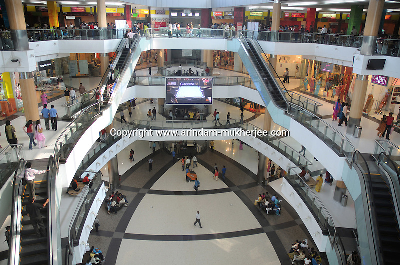 The interior of the south city mall. The biggest mall in Calcutta