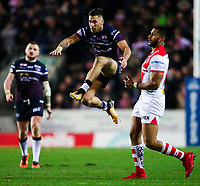 Picture by Alex Whitehead/SWpix.com - 16/03/2018 - Rugby League - Betfred Super League - St Helens v Leeds Rhinos - Totally Wicked Stadium, St Helens, England - Leeds' Joel Moon.