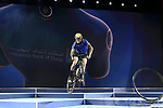 Vittorio Brumotti on stage at the opening ceremony held at the Skydive Dubai before the Dubai Tour 2018 the Dubai Tour&rsquo;s 5th edition held at Dubai Frame in Zabeel Park, Dubai, United Arab Emirates. 5th February 2018.<br /> Picture: LaPresse/Fabio Ferrari | Cyclefile<br /> <br /> <br /> All photos usage must carry mandatory copyright credit (&copy; Cyclefile | LaPresse/Fabio Ferrari)