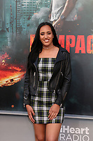 "LOS ANGELES - APR 4:  Simone Johnson at the ""Rampage"" Premiere at Microsoft Theater on April 4, 2018 in Los Angeles, CA"