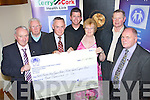 Friends of Kerry General Hospital and Kerry Cancer Support Group received €4,000, the proceeds of a dance in the Earl of Desmond which took place on 8th July, organised by John Joe Herlihy and Phylis McLoughlin.Pictured from left: John Joe Herlihy, Liam Brosnan (Friends of Kerry General Hospital), Tom McCormack (Friends of Kerry General Hospital), David O'Mahony, Phylis McLoughlin, Patrick Herlihy, Sean Prendergast (Kerry Cancer Support Group)