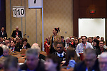 16 JAN 2016: The NCAA Division III Business Session during the 2016 NCAA Convention takes place at the MarriottRivercenter in San Antonio, TX. Justin Tafoya/NCAA Photos