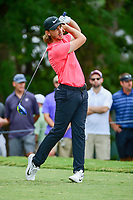 Tommy Fleetwood (ENG) watches his tee shot on 5 during Friday's round 2 of the PGA Championship at the Quail Hollow Club in Charlotte, North Carolina. 8/11/2017.<br /> Picture: Golffile | Ken Murray<br /> <br /> <br /> All photo usage must carry mandatory copyright credit (&copy; Golffile | Ken Murray)