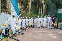 20/05/2020 - HIGIENIZAÇÃO EM SANTA MARTA NO RIO DE JANEIRO