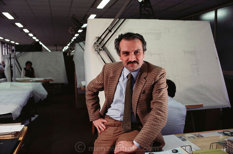 Dr. Ing. Giuliano Cozzari, one of the innovative engineers in the 1980's at Fiat, in Turin, Italy. Designed Robogate. MODEL RELEASED..