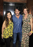 Bold and The Beautiful Ricky Paull Goldin (A/W, AMC, Y&R) and Gretta Monahan pose with The Real Housewives Lu Ann de Lesseps at The Gossip Table Launch Party to celebrate our new VH1 morning show beginning June 3 - party was on May 30, 2013 at Catch Roof, New York City, New York. (Photo by Sue Coflin/Max Photos)
