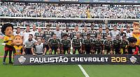 Santos SP, 19 maio 2013 - SANTOS X CORINTHIANS  LTime posa    durante partida da final do campeonato paulista de 2013  no Estadio da Vila Belmiro em Santos, Litoral de  de Sao Paulo, neste domingo , 19. (FOTO: ALAN MORICI / BRAZIL PHOTO PRESS).