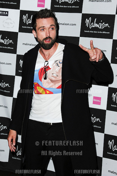Emmett Scanlan arrives for the Malmaison Hotel Liverpool re-opening party...23/09/2011  Picture by Steve Vas/Featureflash