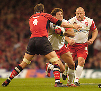 Cardiff, WALES.  Jean Baptiste Gobelet, looking for the gap. during the  2006 Heineken Cup Final,  at the  Millennium Stadium,  between, Biarritz Olympique and Munster Rugby,  20.05.2006. © Peter Spurrier/Intersport-images.com,  / Mobile +44 [0] 7973 819 551 / email images@intersport-images.com.   [Mandatory Credit, Peter Spurier/ Intersport Images].14.05.2006   [Mandatory Credit, Peter Spurier/ Intersport Images].