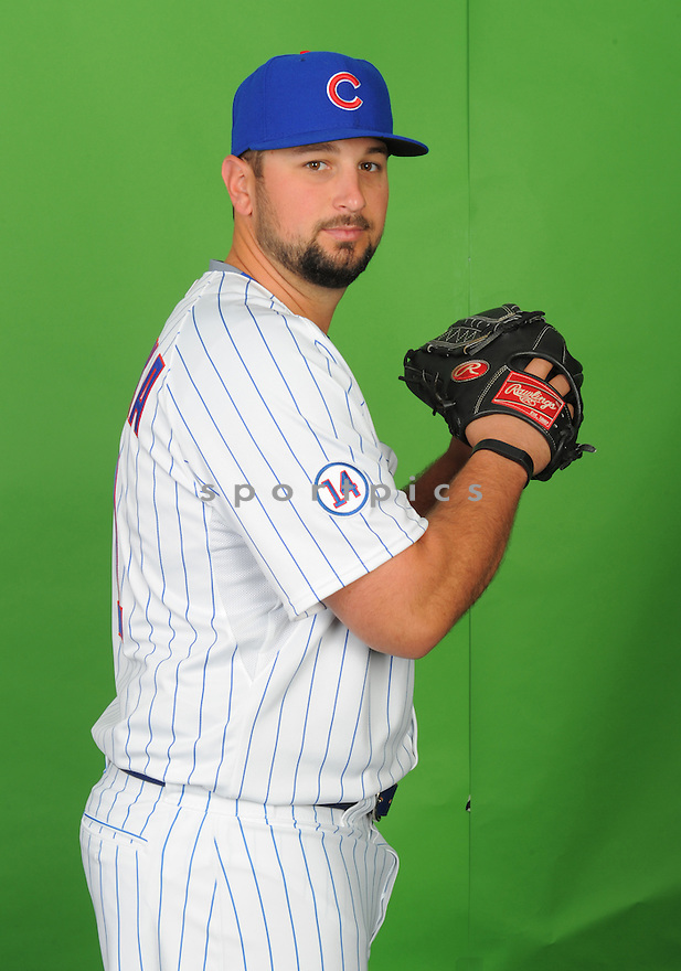 Chicago Cubs Hunter Cervenka (71) during photo day on March 2, 2015 in Mesa, AZ.