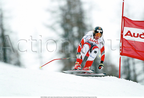 FRITZ STROBL (AUT), Men's Downhill Practice, World Cup Skiing, Val D'Isere 001207 Photo:Neil Tingle/Action Plus...Jump.2000.winter sport.winter sports.wintersport.wintersports.alpine.ski.skier.man