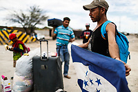 Caravan of the Migrants of 600 Central American people traveling by train, from the southern border of Mexico. Today they have arrived in Hermosillo, Sonora, where they will stay one to two days in search of<br />  regularize your situation in Mexico and obtain a humanitarian visa to work legally in Sonora and Baja California. Another part of the contingent seeks asylum in the United States