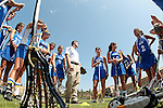 Los Angeles, CA 04/18/10 - UCSB Coach Paul Ramsey addresses his team prior to the WWLL Championship game against Santa Clara at UCLA.  Santa Clara defeated UCSB 12-6.