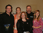BREAKFAST: Frank Dicopoulos, Gina Tognoni, Robert Newman, Marcy Rylan and Lisa Edmonds at the VP GL Breakfast followed by a meet and greet and later that day the 4th Annual Fashion Show Luncheon on April 26, 2009 to benefit Young Women's Cancer Awareness Foundation at Embassy Suites Hotel, Coraopolis (near Pittsburgh). (Photo by Sue Coflin/Max Photos)