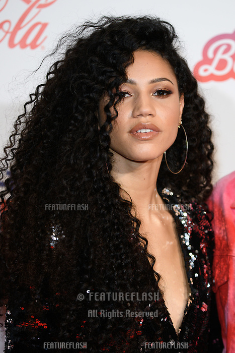 LONDON, UK. December 08, 2018: Vick Hope at Capital&rsquo;s Jingle Bell Ball 2018 with Coca-Cola, O2 Arena, London.<br /> Picture: Steve Vas/Featureflash