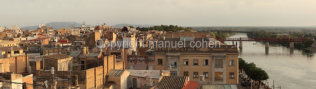Panoramic view of Tortosa and the Ebre river, Tarragona, Spain. Picture by Manuel Cohen