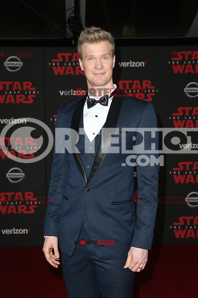 LOS ANGELES, CA - DECEMBER 9: Joonas Suotamo, at Premiere Of Disney Pictures And Lucasfilm's 'Star Wars: The Last Jedi' at Shrine Auditorium in Los Angeles, California on December 9, 2017. Credit: Faye Sadou/MediaPunch /NortePhoto.com NORTEPHOTOMEXICO