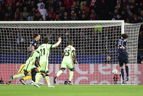 06.04.2016. Paris, France. UEFA CHampions League, quarter-final. Paris St Germain versus Manchester City.  Goal scored for from Adrien Rabiot (PSG)