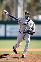 February 20, 2009:  Pitcher John Folino (39) of the University of Connecticut during the Big East-Big Ten Challenge at Jack Russell Stadium in Clearwater, FL.  Photo by:  Mike Janes/Four Seam Images