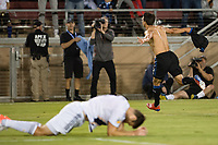 STANFORD, CA - JUNE 29: Shea Salinas #6 celebrates scoring during a Major League Soccer (MLS) match between the San Jose Earthquakes and the LA Galaxy on June 29, 2019 at Stanford Stadium in Stanford, California.