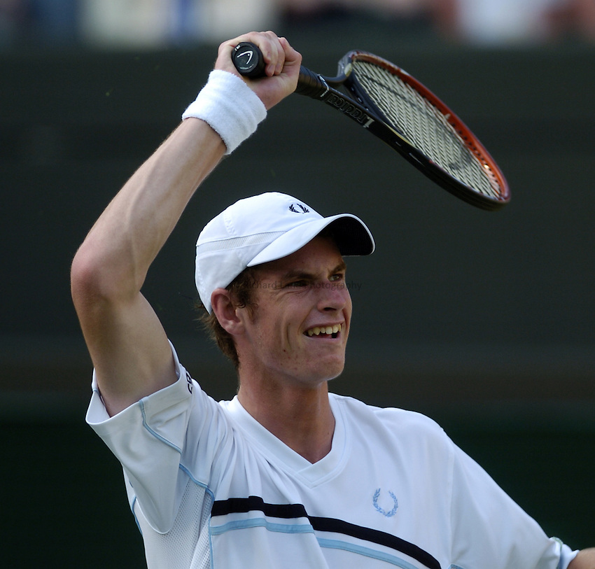 Photo. Jed Wee..Wimbledon Championships. 23/06/2005..Andy Murray.