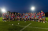 The two teams pose for a post-match photo. Remembrance Rugby match, between Bath United and the UK Armed Forces on May 10, 2017 at the Recreation Ground in Bath, England. Photo by: Patrick Khachfe / Onside Images