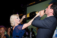 VIP champagne raffle winner at 2013 Hearts & Stars Gala at Tierra Veritatis, Miami Beach, FL, March 9, 2013