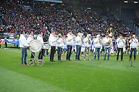 VOETBAL: HEERENVEEN: Abe Lenstra Stadion 04-04-2015, SC Heerenveen - NAC, uitslag 0-0, Blaaskapel 'De Swalkers', ©foto Martin de Jong