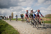 Julien Vermote (BEL/Dimension Data)<br /> <br /> 74th Dwars door Vlaanderen 2019 (1.UWT)<br /> One day race from Roeselare to Waregem (BEL/183km)<br /> <br /> ©kramon