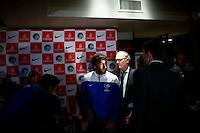 Spanish soccer player Raul Gonzalez attends a media event with members of the New York Cosmos team in Manhattan, New York 24.03.2015. Eduardo Munoz Alvarez/VIEWpress.
